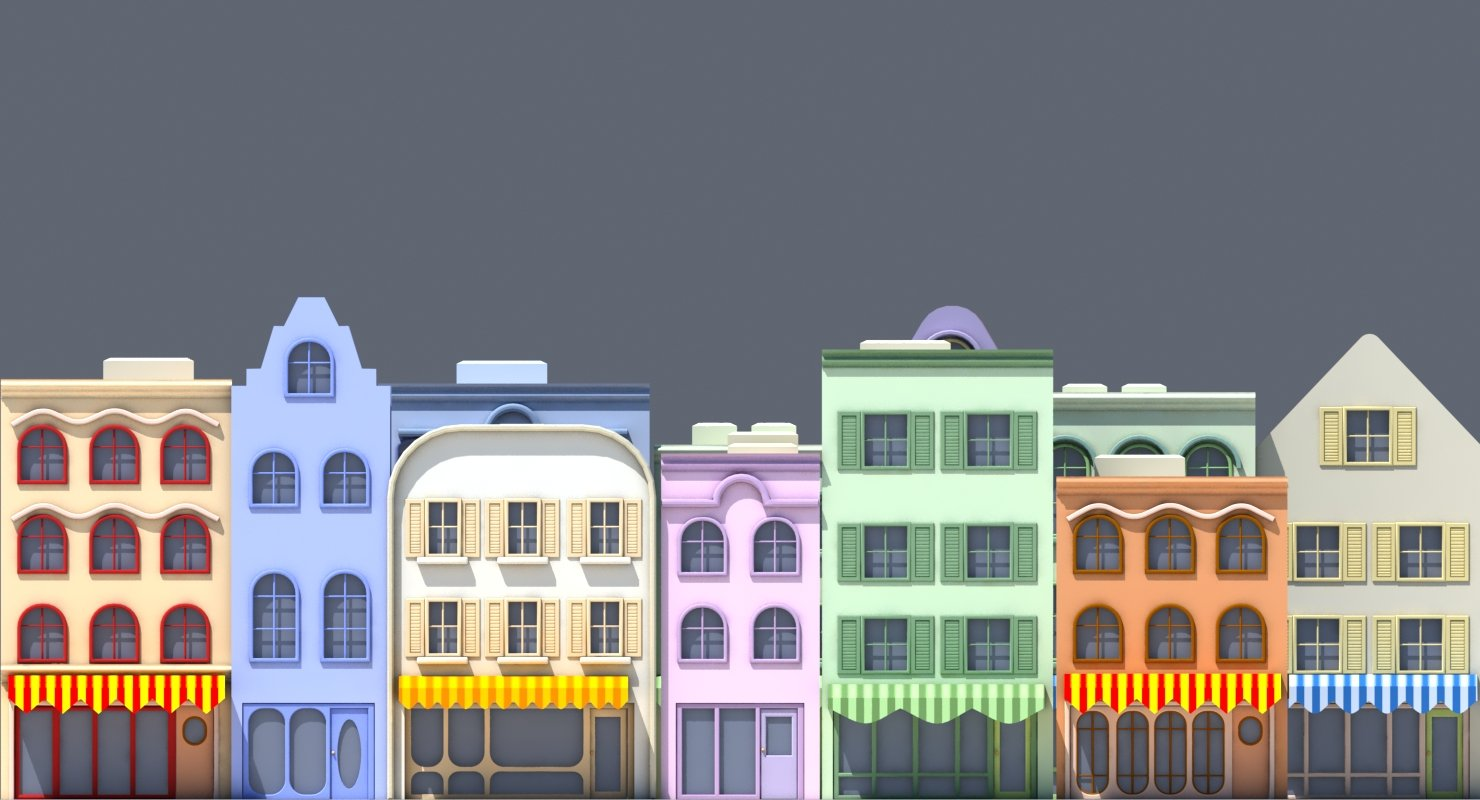 Cartoon Buildings - WireCASE