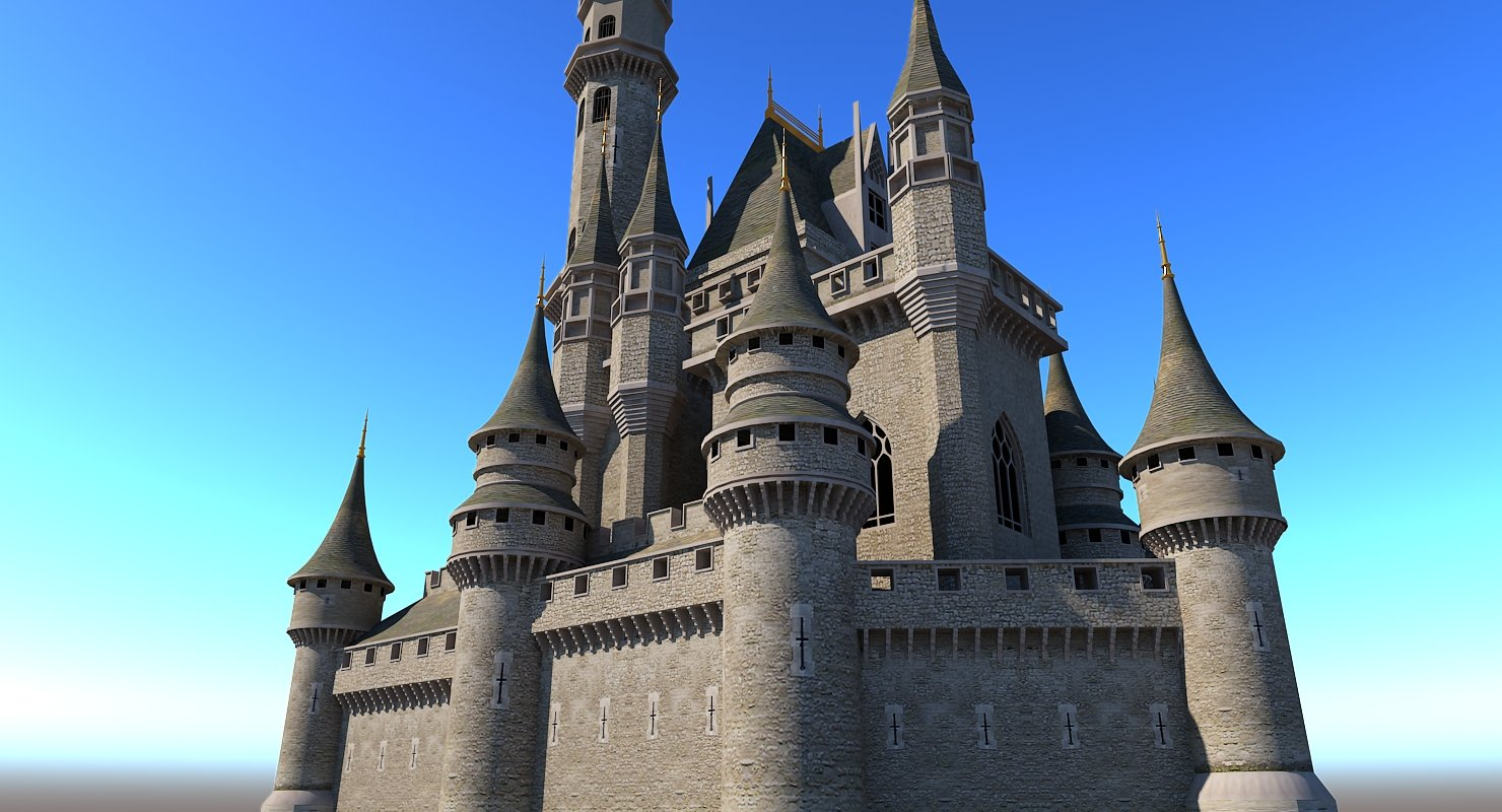 Castle 3D Model - WireCASE