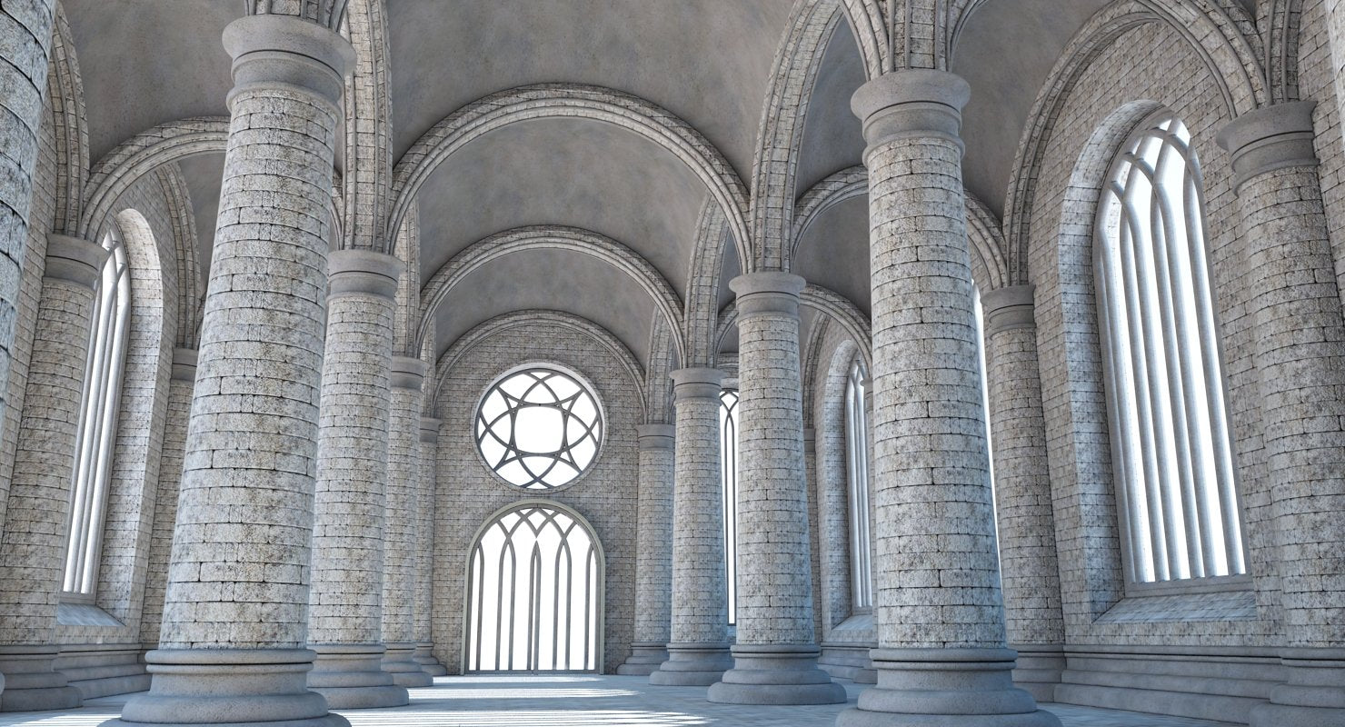 Cathedral Interior 1 3D MODEL - WireCASE