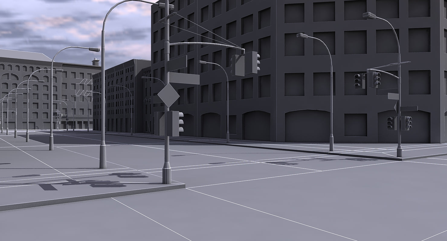 Low Poly City Block 2
