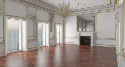 Classic Interior Hall 3D Model - WireCASE
