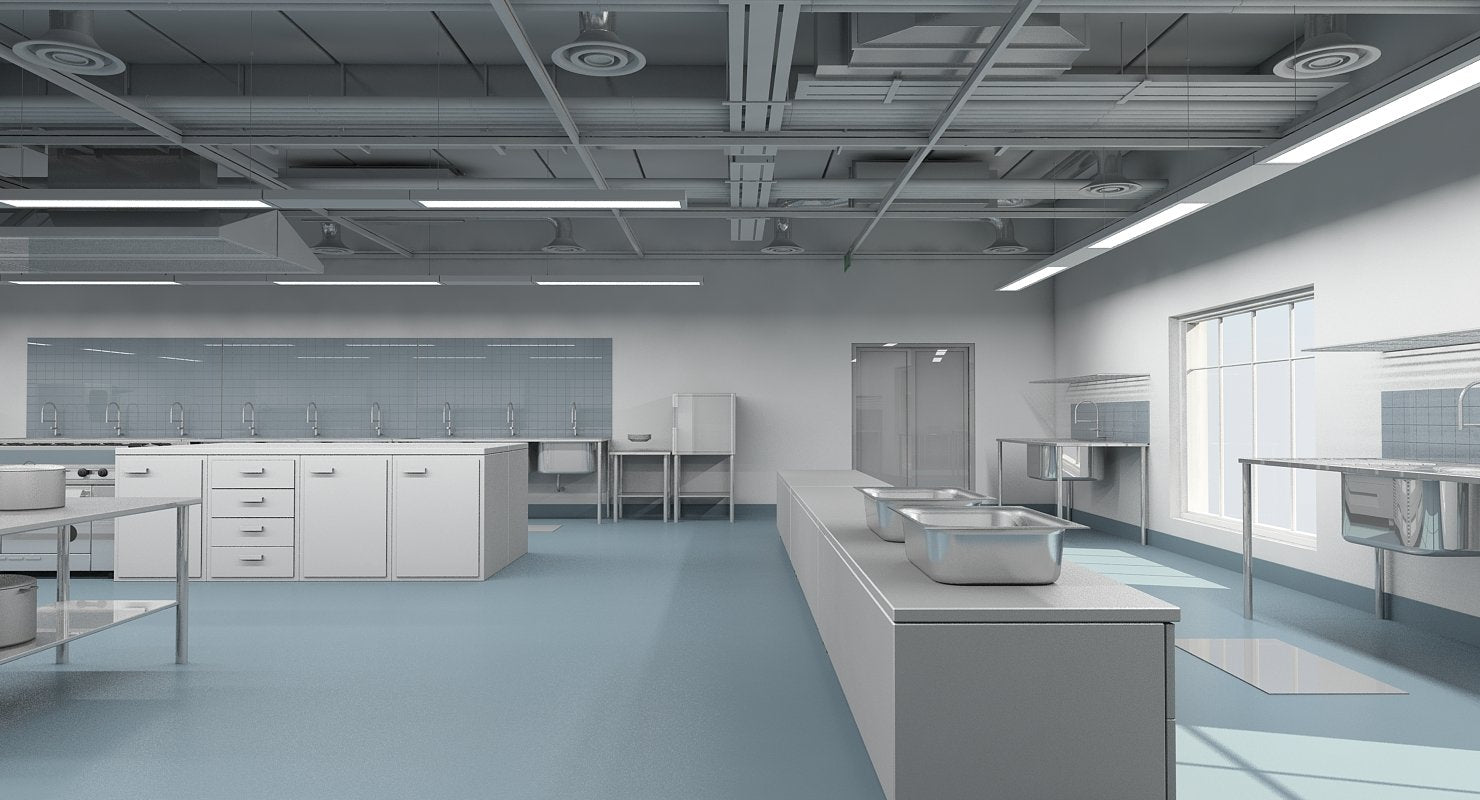 Commercial Kitchen 3D Model - WireCASE