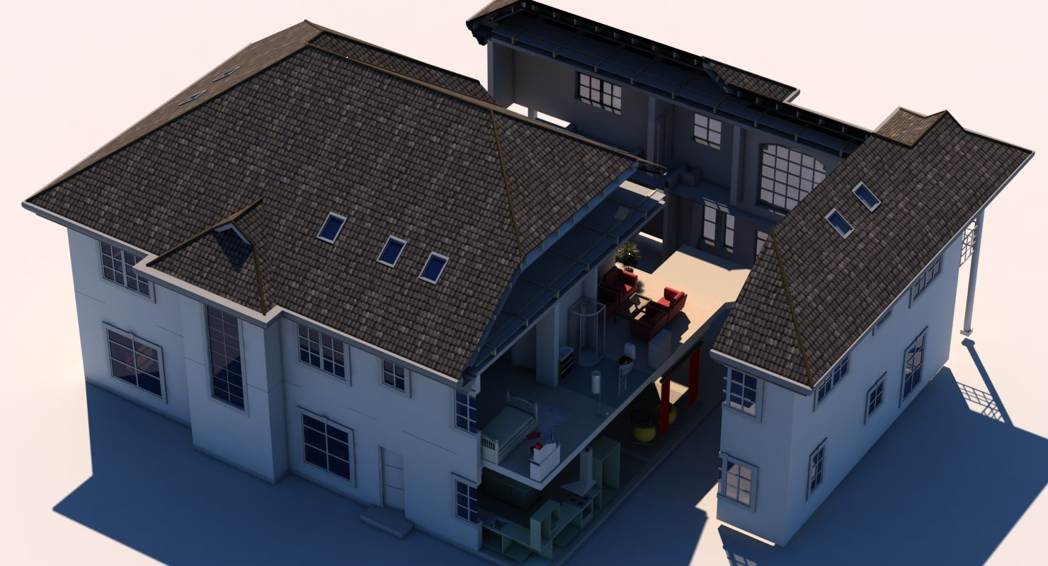 3D House Cut Out - WireCASE