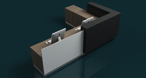 3D Reception Desk 1 - WireCASE