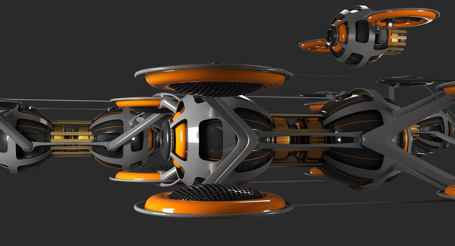 Futuristic Drone Fleet - WireCASE