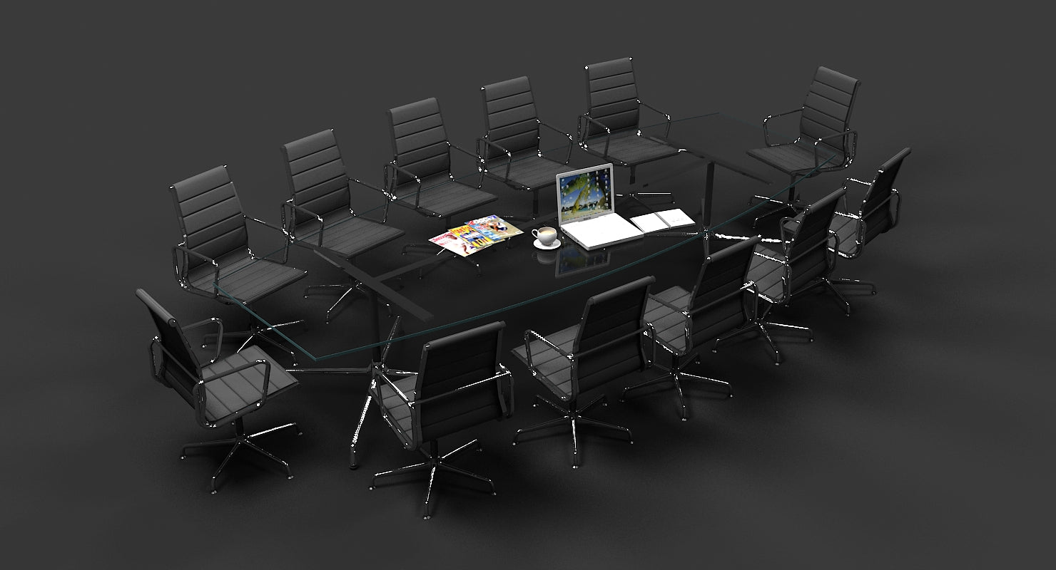 Eames Conference Table and chair Set - WireCASE