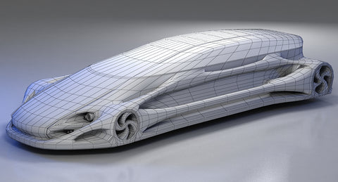 Futuristic Car HD 10 model