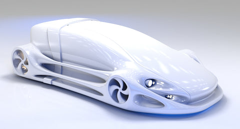 Futuristic Car HD 08 3D model