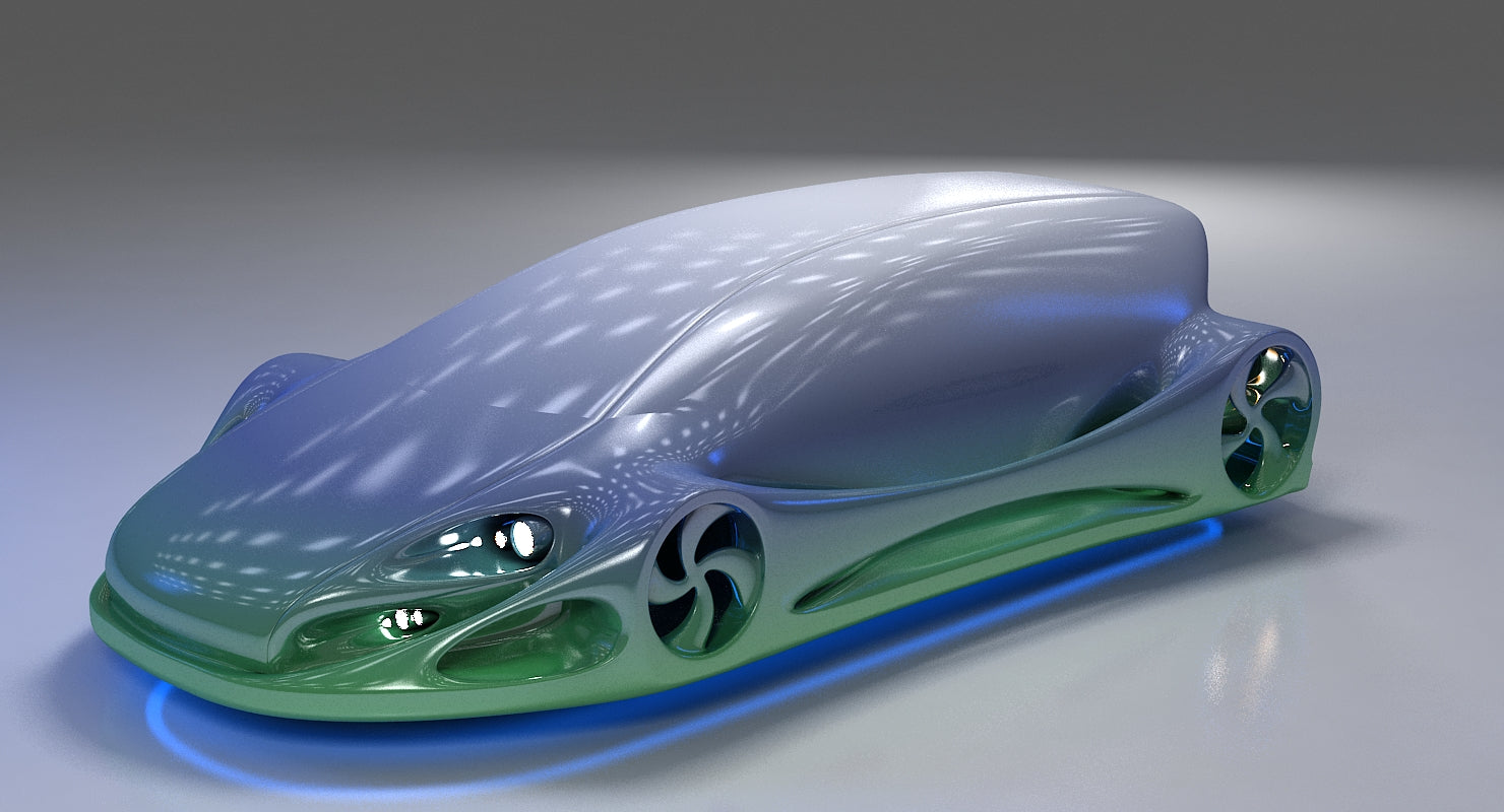 3D Futuristic Car HD 09 model