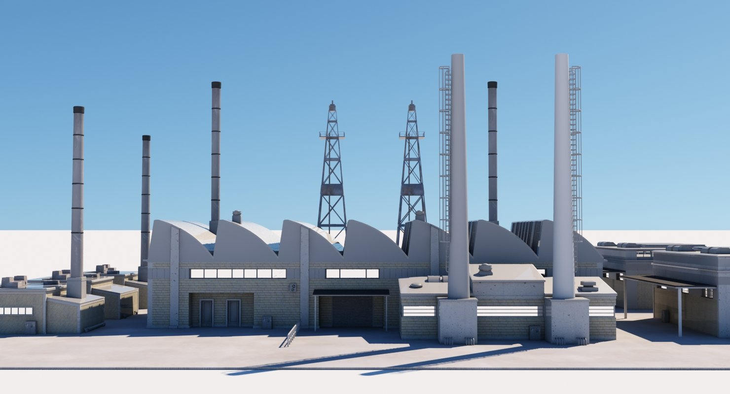Factory 3D Model - WireCASE