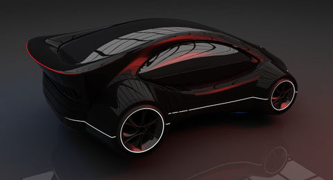 Futuristic Car HD 1 3D Model - WireCASE