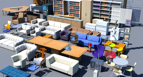 Office Furniture Collection 1 - WireCASE