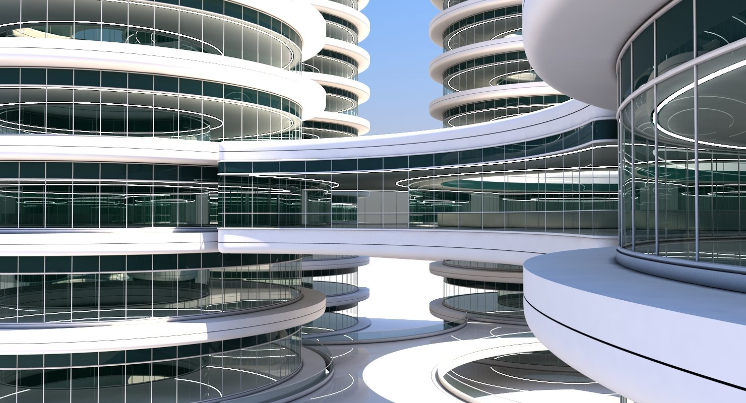 Futuristic Building 101 - WireCASE