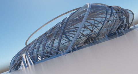 Futuristic Architectural Structure - WireCASE
