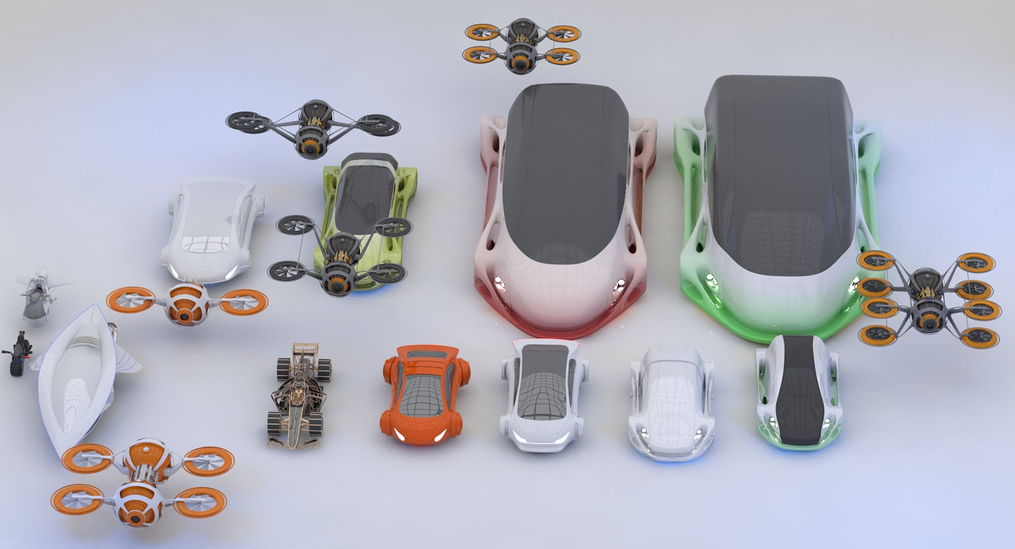 Future Transport Vehicles Collection HD 2