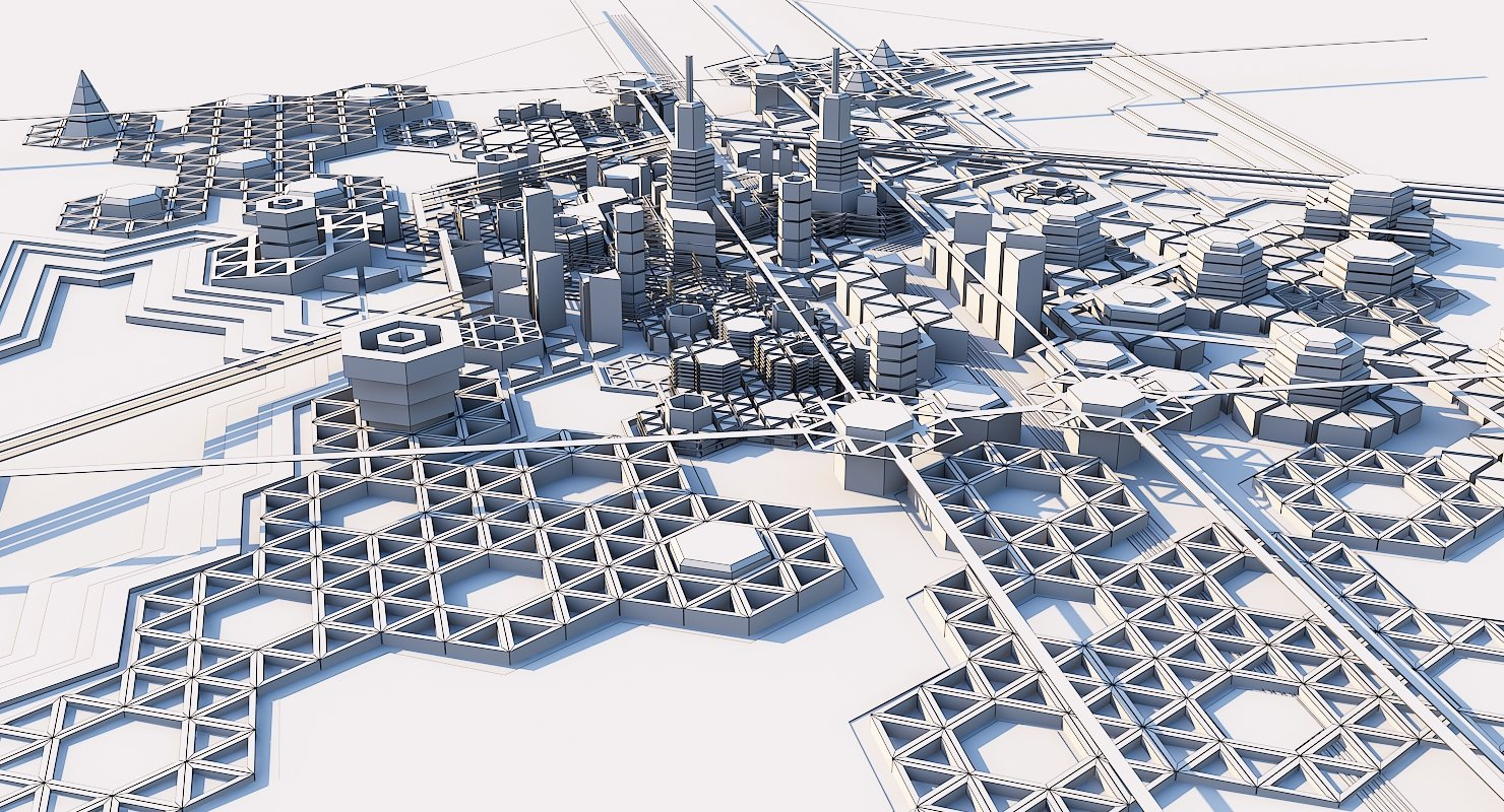 Geometric City - WireCASE