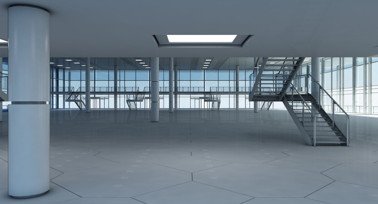Modern Glass Building Interior And Exterior - WireCASE
