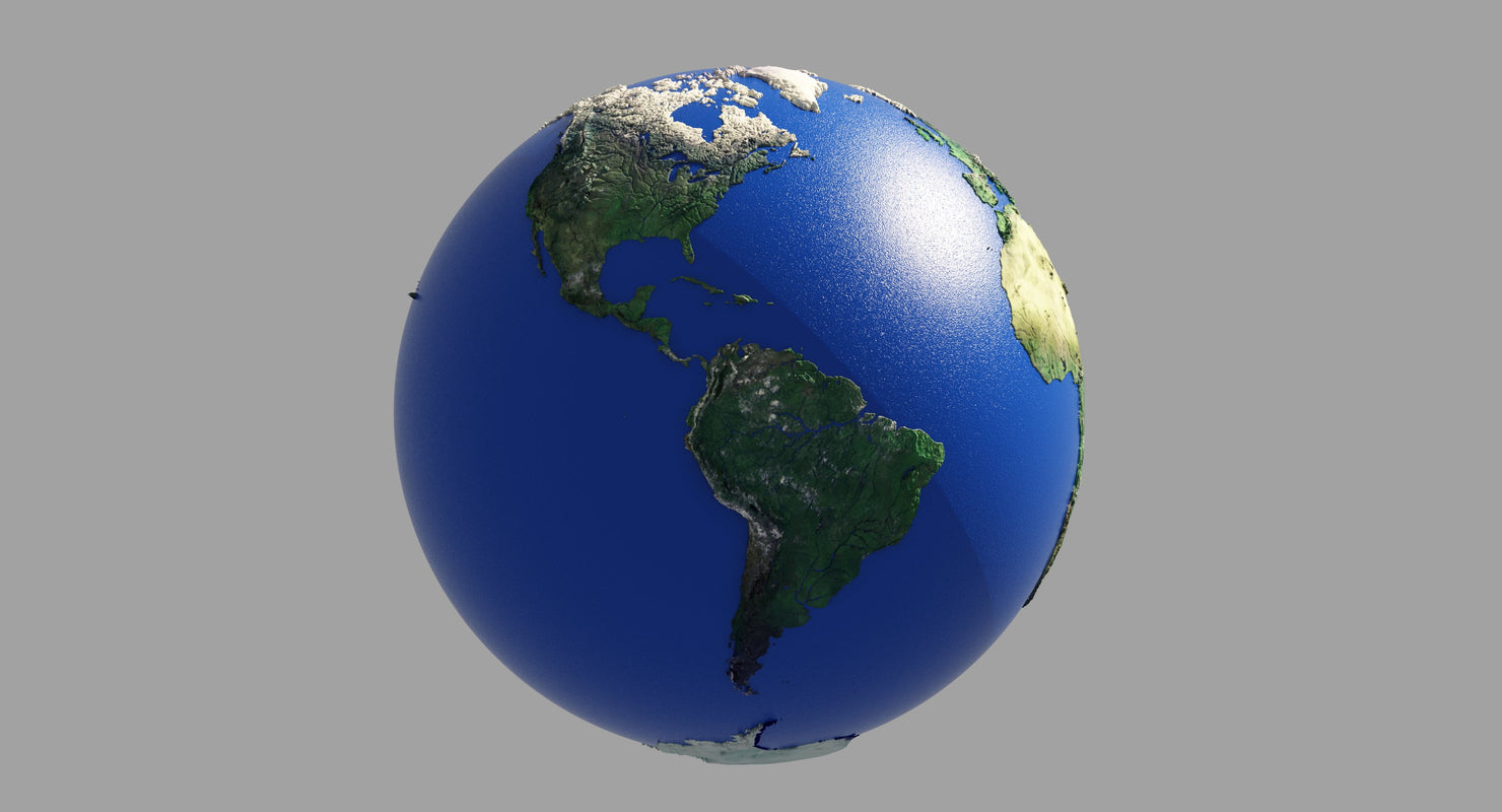 3D model Earth Globe HD - WireCASE