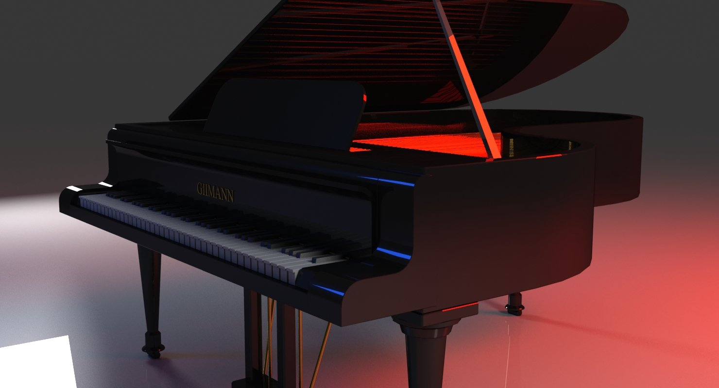3D Grand Piano - WireCASE