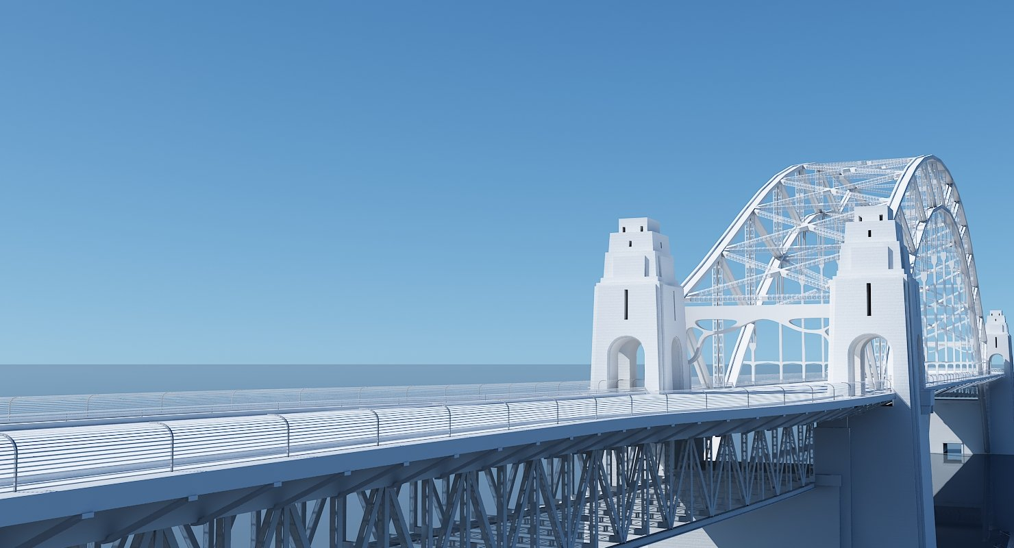 Harbour Bridge 3D Model - WireCASE