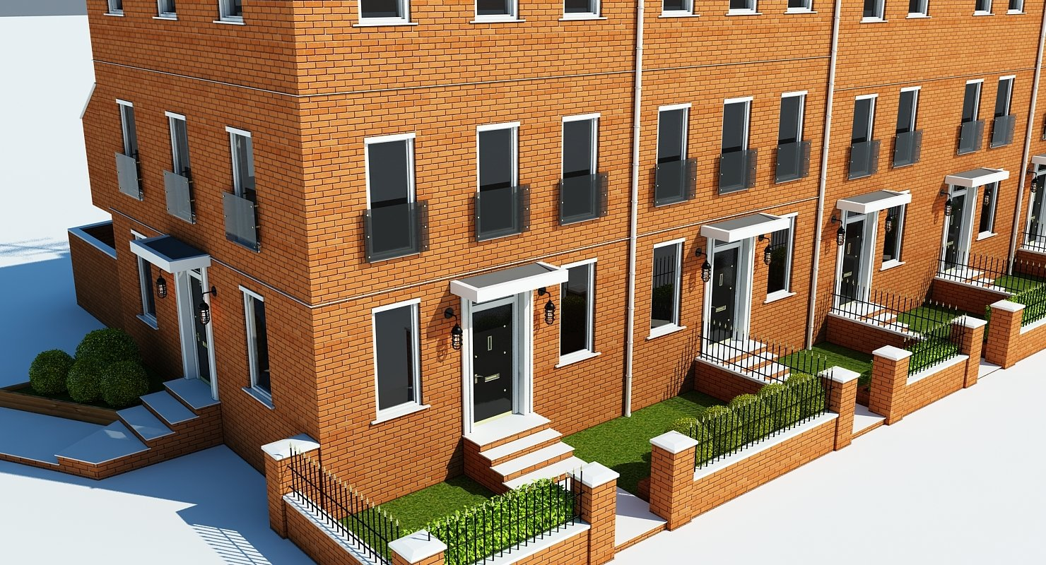Terraced Town house Building - WireCASE