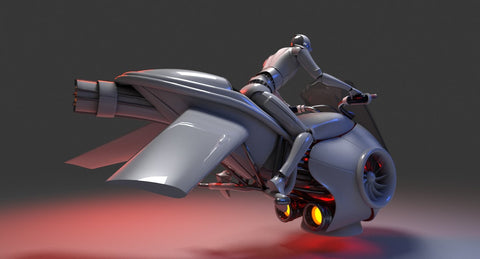 3D Future Hover Bike - WireCASE