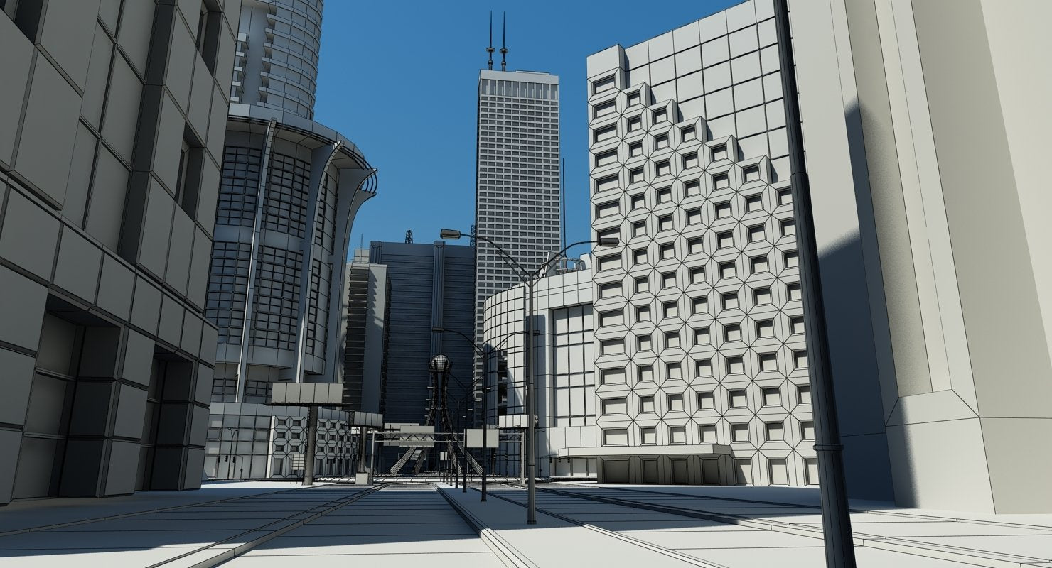 3D City Intersection - WireCASE