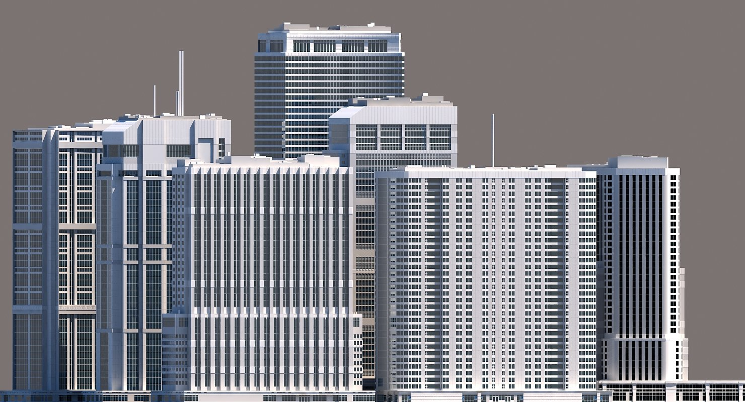 Modern City Skyscraper Kit - WireCASE