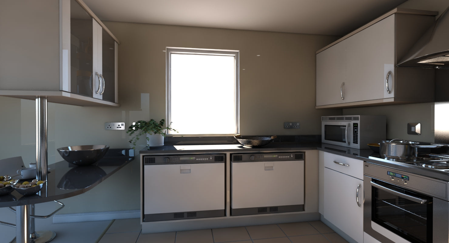 3D Kitchen 15 - WireCASE