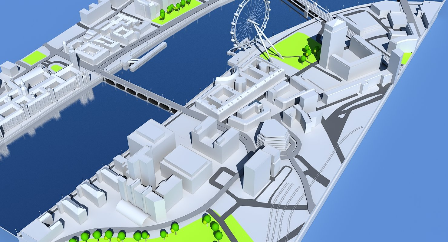 3D London Map - WireCASE