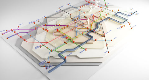 London Underground Map 3D