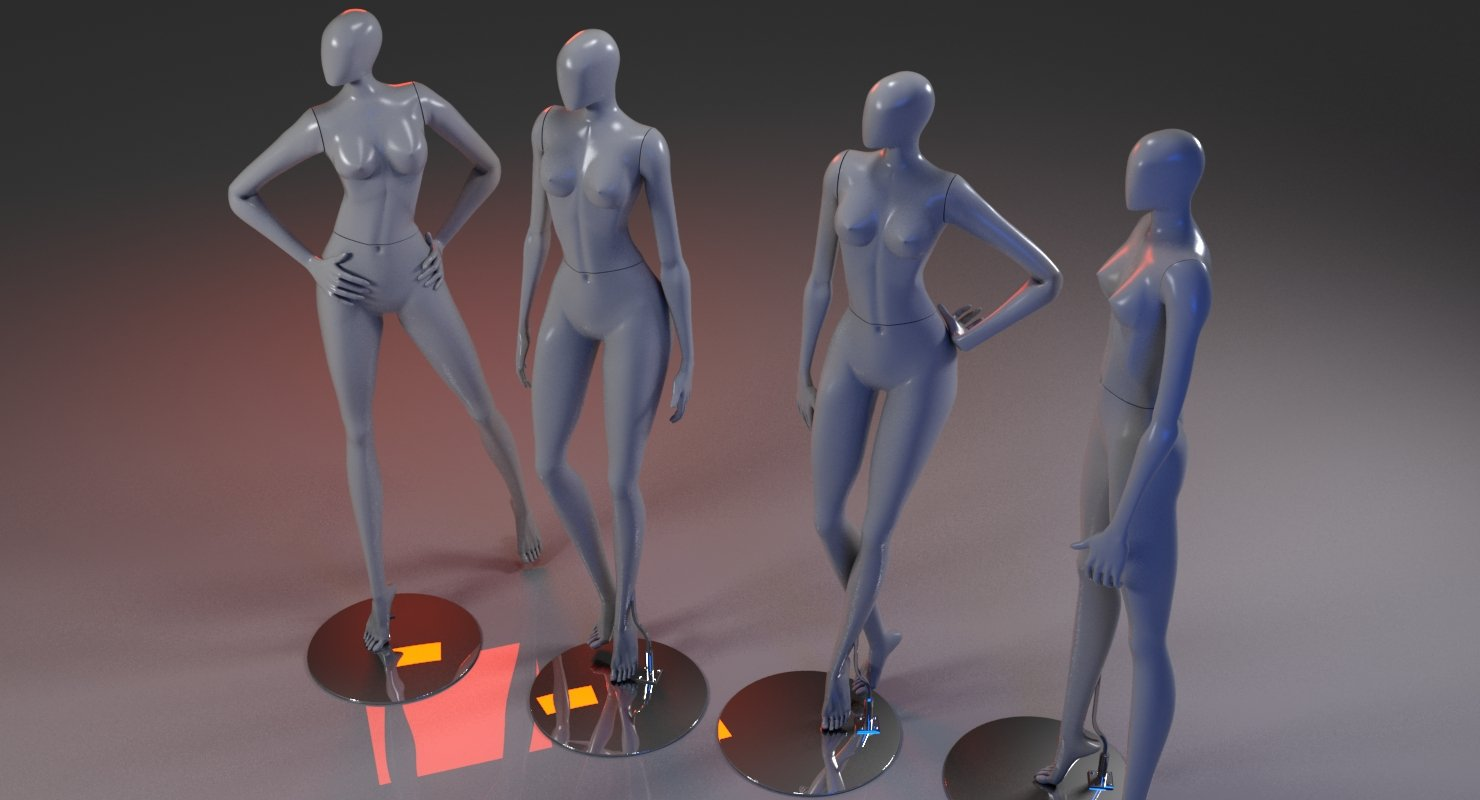 Mannequin 3D Model - WireCASE