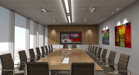 3D Boardroom Scene - WireCASE