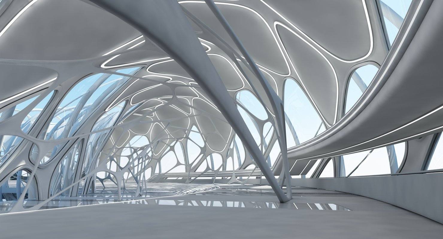 Futuristic Architectural Structure 17 - WireCASE