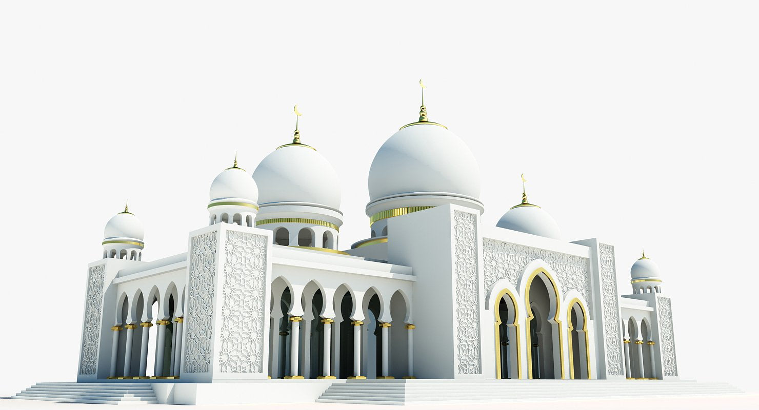 Mosque Building 3D - WireCASE