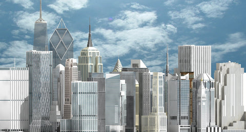 3D New York Skyscrapers - WireCASE
