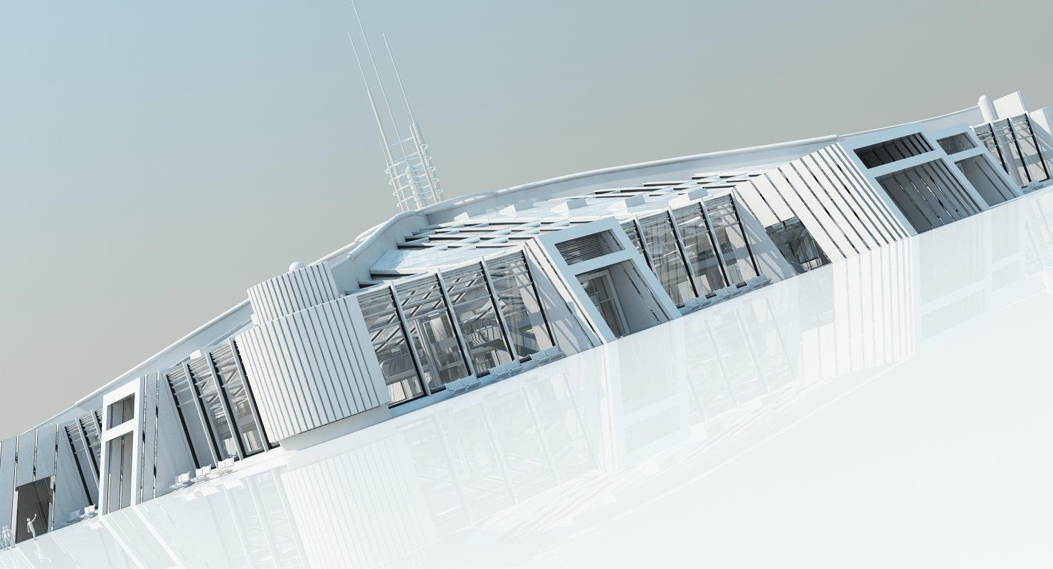 Futuristic Architectural Structure 2 - WireCASE