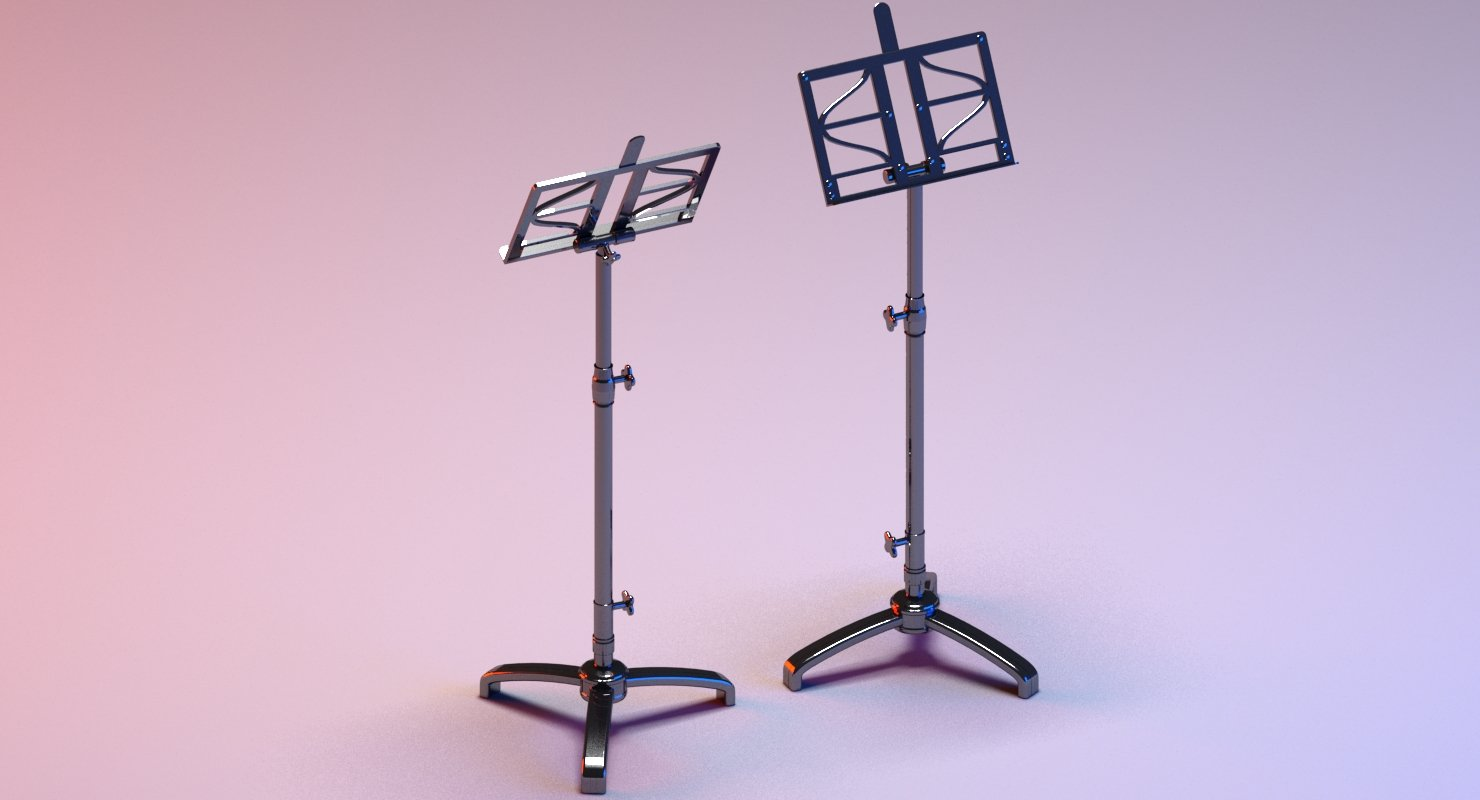 Note Stand 3D Model - WireCASE