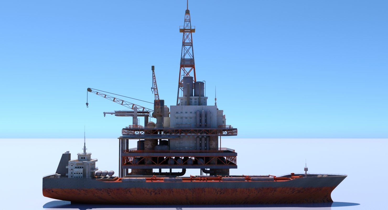 Oil Rig And Tanker - WireCASE