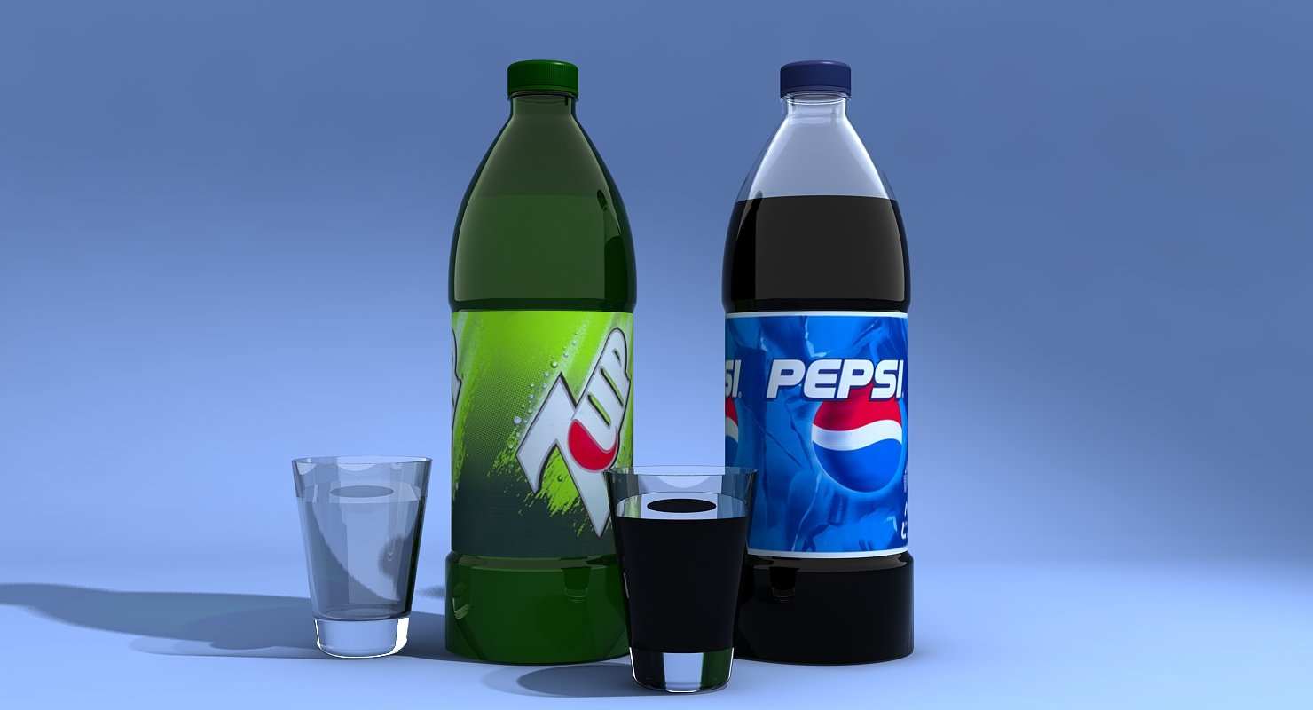 Pepsi And 7Up Bottles - WireCASE
