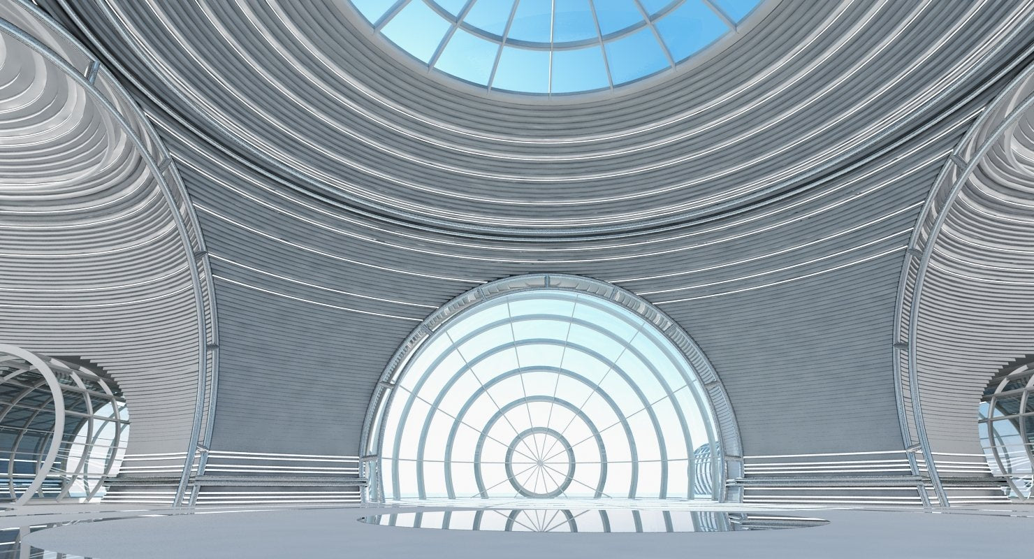 Futuristic Architectural Structure 4 - WireCASE