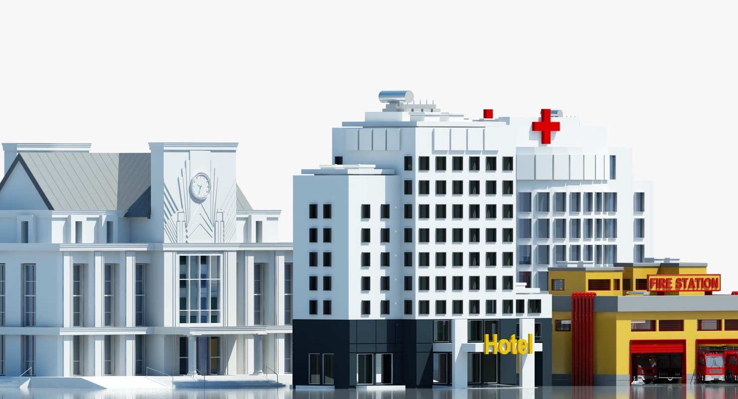 Public Buildings Symbol 1 3D MODEL - WireCASE