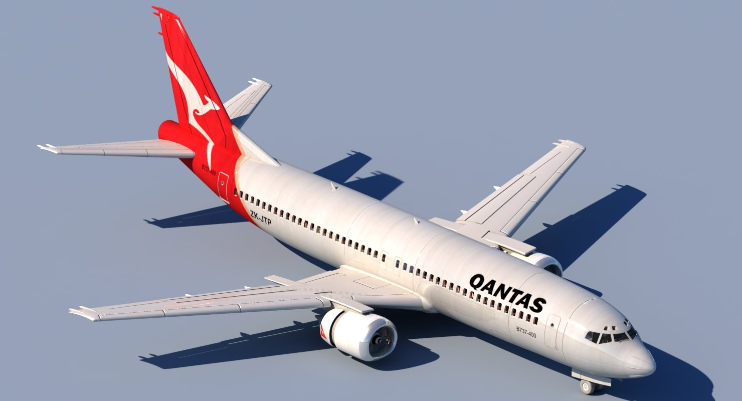737 Qantas - WireCASE