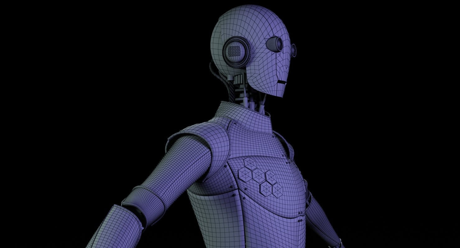 Robot Generic 3D Model - WireCASE