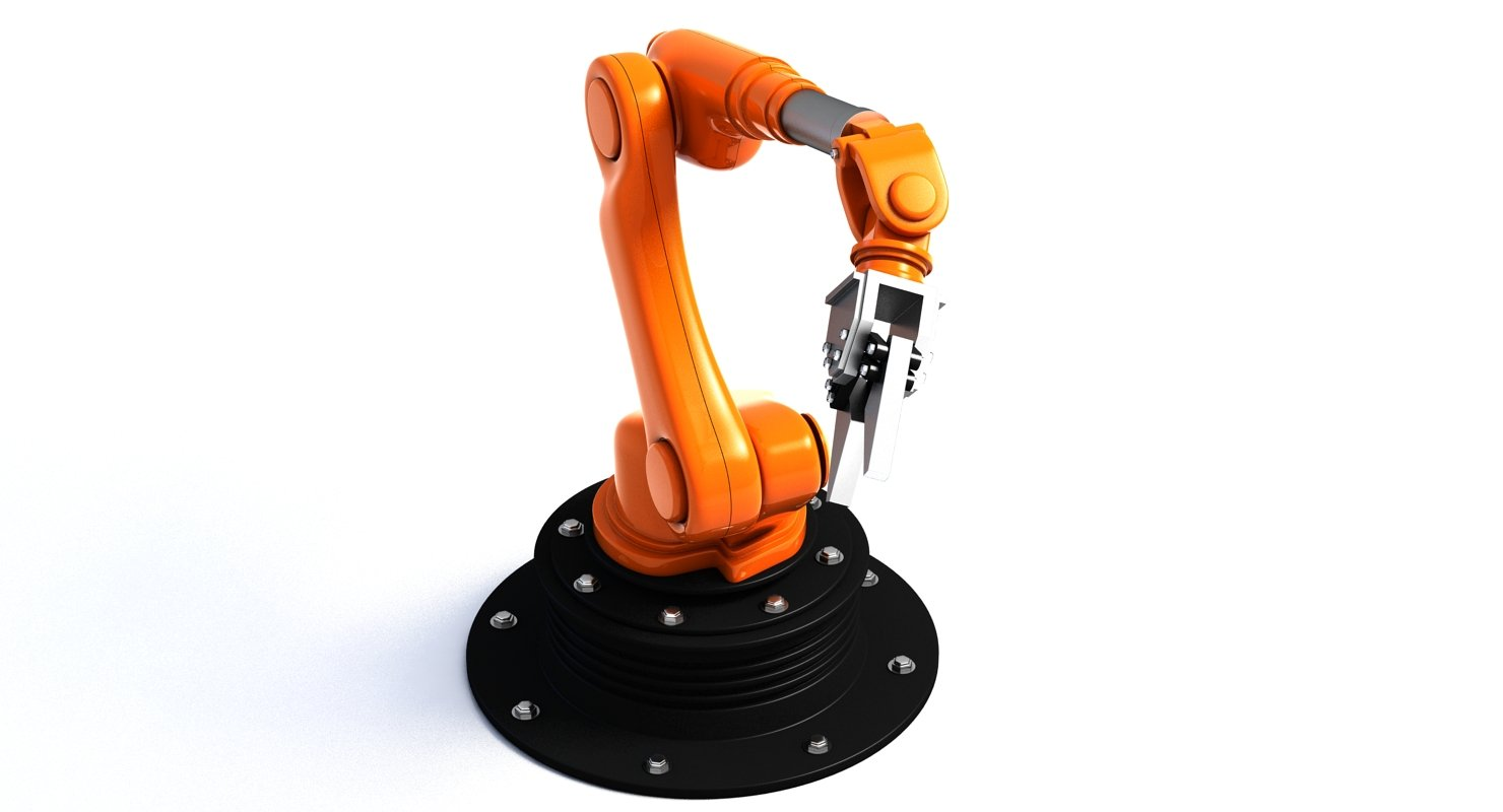 Robotic Arm 3D Model - WireCASE