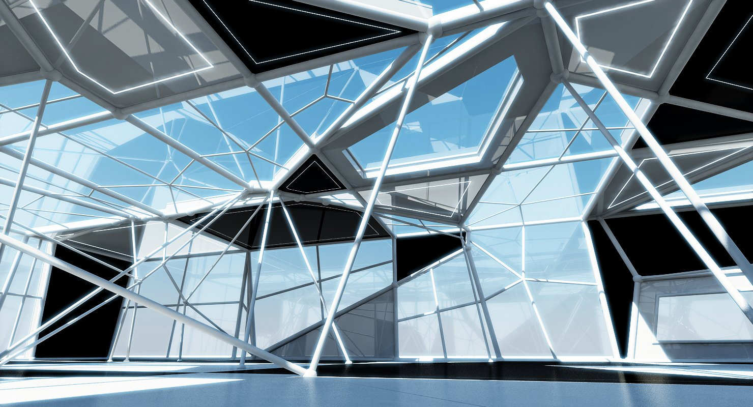 Futuristic Building Interior Exterior - WireCASE