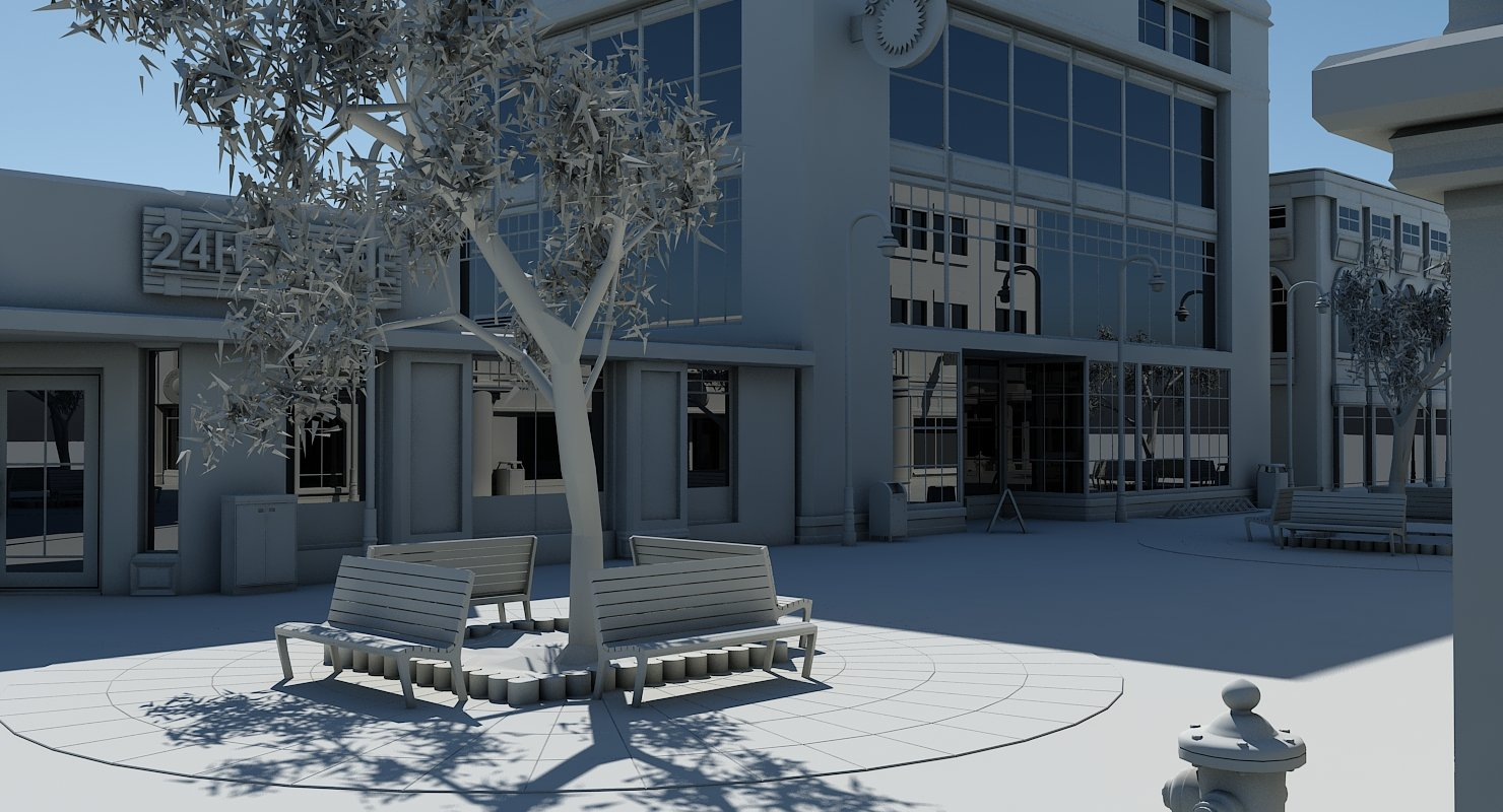 Shopping Center 3D Model - WireCASE