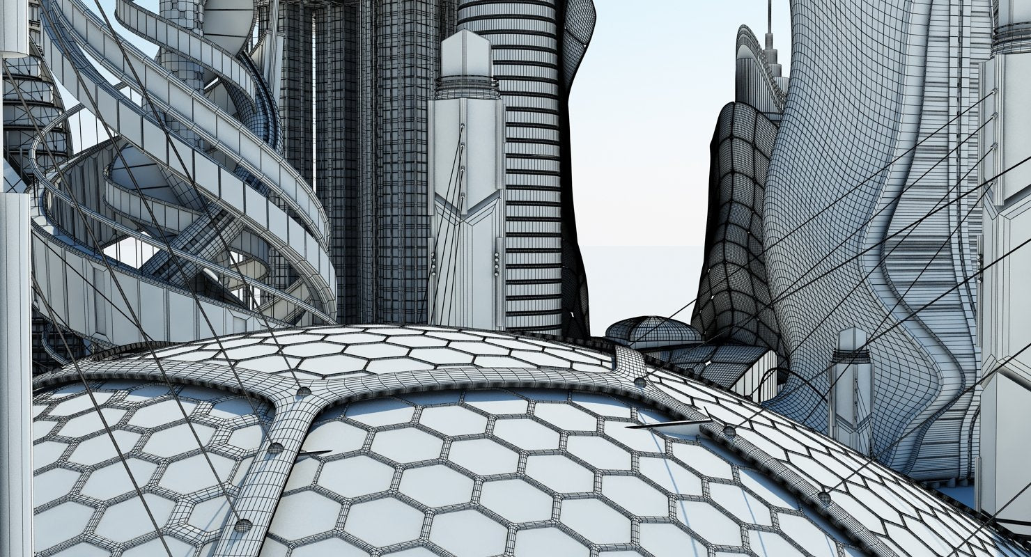 Futuristic Skyscrapers - WireCASE