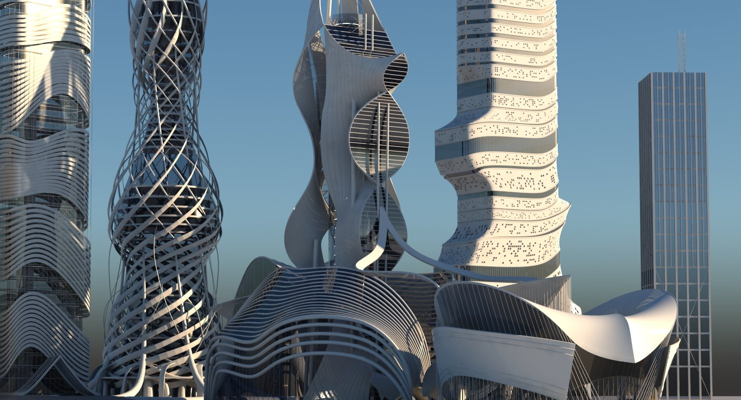 Futuristic Skyscraper collection 6 - WireCASE