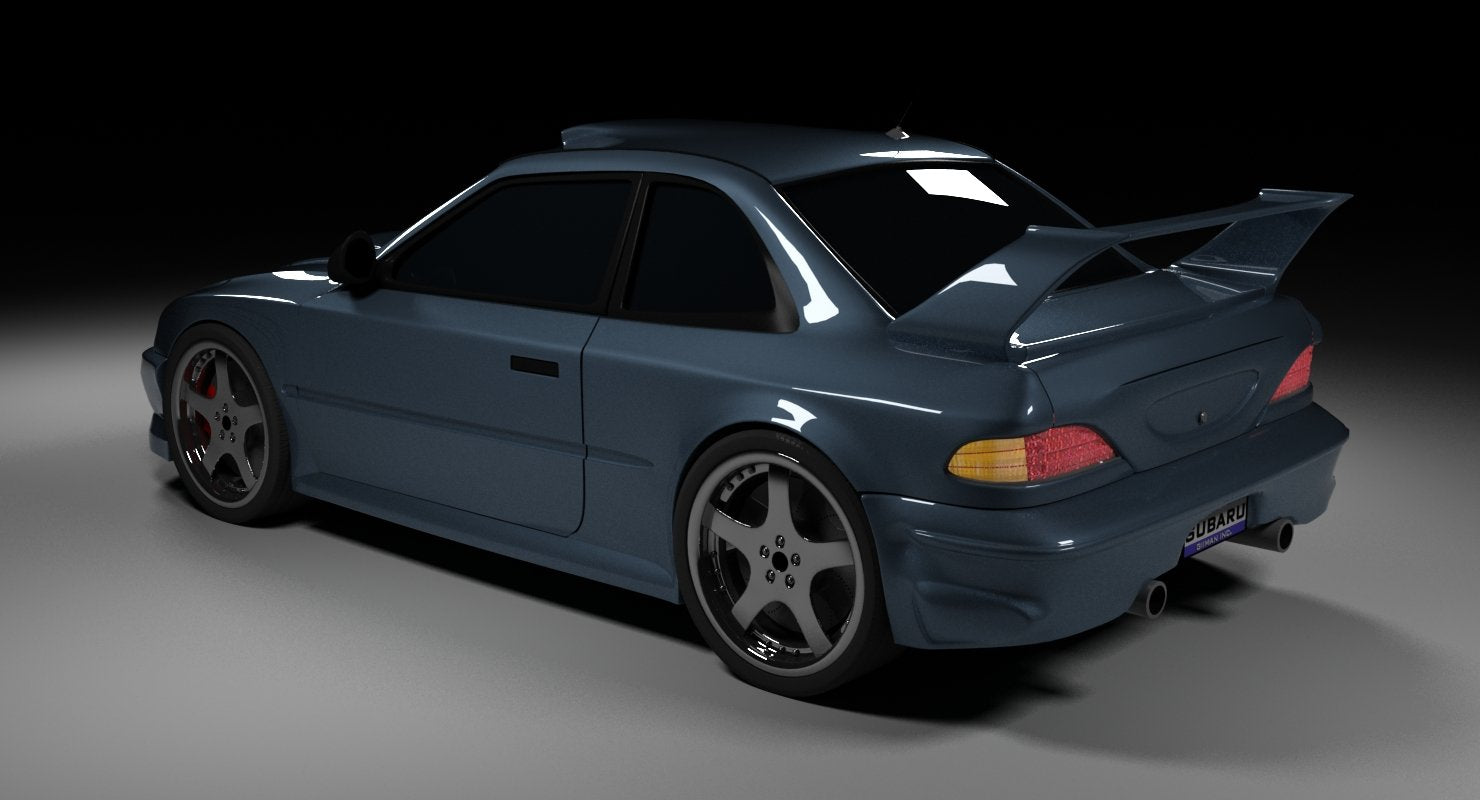 Subaru Free 3D Model - WireCASE